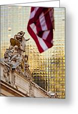 Grand Central Flag Greeting Card
