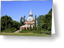 Grand Chapel In Central Cemetery Szczecin Poland Greeting Card