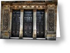 Grand Door - Leeds Town Hall Greeting Card