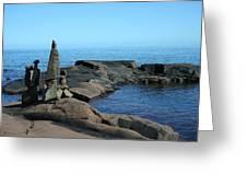 Grand Marais Harbor Rock Family Greeting Card