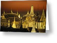 Grand Palace And Temple Of The Emerald Greeting Card