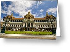 Grand Palace Chakri Mahaprasad Hall Front View Bangkok Greeting Card