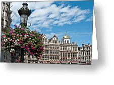 Grand Place Flowers Greeting Card