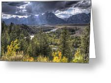 Grand Teton National Park And Snake River Greeting Card