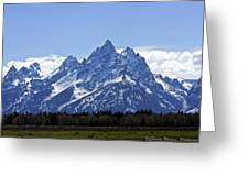 Grand Tetons 2 Greeting Card by Charles Warren