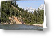 Grand Tetons From Snake River Greeting Card