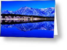 Grand Tetons In Blue Greeting Card