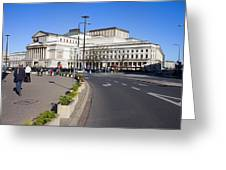 Grand Theatre In Warsaw Greeting Card