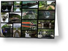 Grand Union Canal Collage Greeting Card