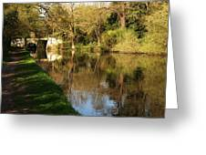 Grand Union Canal Near Denham Greeting Card