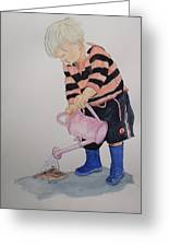 Granda Series1-will It Grow  Greeting Card by Peter Edward Green