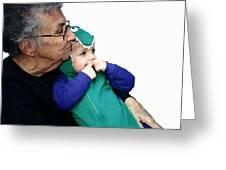 Grandma's Little Dino Greeting Card