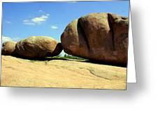 Granite Boulders 2  Greeting Card