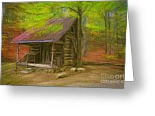 Granny's Little Cabin Greeting Card