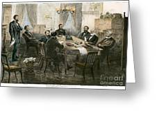 Grants Cabinet, 1869 Greeting Card