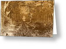 Grants Canal, 1862 Greeting Card