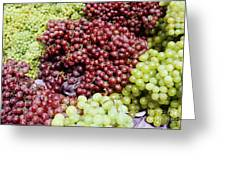 Grapes At A Market Stall Greeting Card