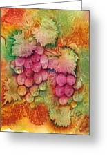 Grapes With Rust Background Greeting Card