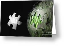 Grass Jigsaw Globe Greeting Card