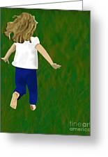 Grass Under My Feet Greeting Card by Melissa Stinson-Borg