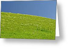Grassy Slope View Greeting Card