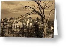 Grave At Virginia City Greeting Card