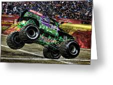 Grave Digger At Ford Field Detroit Mi Greeting Card