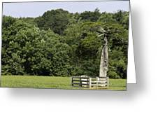 Grave Of Lafayette Meeks Appomattox Virginia Greeting Card