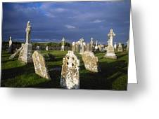 Graveyard, Clonmacnoise, County Offaly Greeting Card
