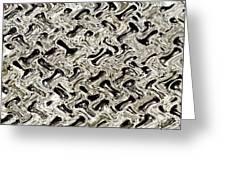 Gray Abstract Swirls Greeting Card