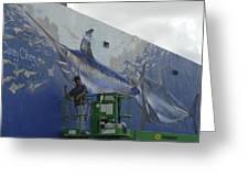 Gray Taxidermy Mural Greeting Card
