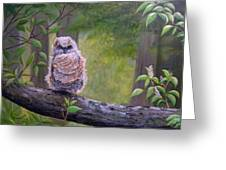 Great Horned Owlette Greeting Card