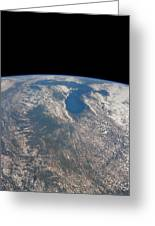 Great Lakes From Space Greeting Card