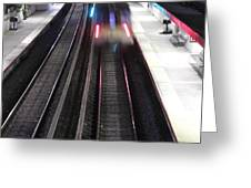 Great Neck Train Station Greeting Card by Stephen Walker