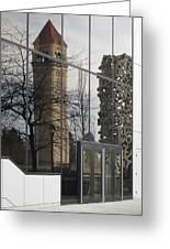 Great Northern Clocktower Reflection - Spokane Washington Greeting Card