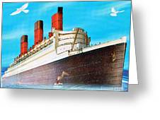 Great Ocean Liner Greeting Card