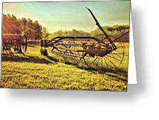 Great Photo Of Some Old #farm Tools Greeting Card