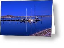 Great Salt Lake Antelope Island Marina Greeting Card