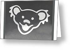 Greatful Dead Dancing Bear In Negative Greeting Card
