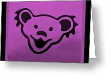 Greatful Dead Dancing Bear In Pink Greeting Card