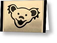Greatful Dead Dancing Bears In Sepia Greeting Card