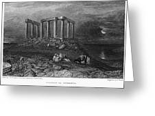 Greece: Cape Sounion, 1832 Greeting Card