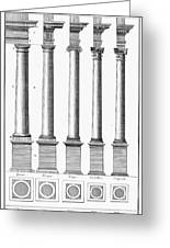 Greek And Roman Columns Greeting Card