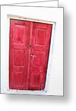 Greek Door Greeting Card