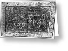 Greek Multiplication Table Greeting Card