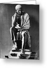 Greek Philosopher Greeting Card by Photo Researchers