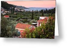 Greek Village  Greeting Card