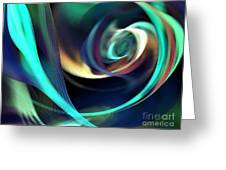 Green And Blue Lines Greeting Card
