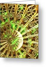 Green And Gold Greeting Card