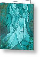 Green Angel Greeting Card